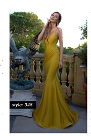 Jessica Angel Satin Sash Gown - Front cropped