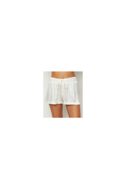 PJHARLOW Satin Short With Rib Knit Waistband And Adjustable Drawstring - Front cropped
