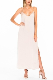 Olivaceous Satin Slip Dress - Product Mini Image