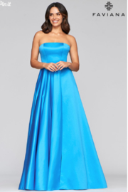 Faviana Satin Strapless Gown - Product Mini Image