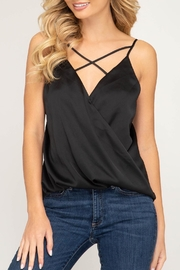 She + Sky Satin Strappy Cami - Product Mini Image