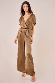 Sugarlips Satin Surplice Jumpsuit - Product Mini Image