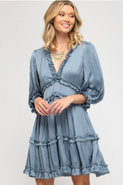 She + Sky Satin Tiered Dress - Product Mini Image