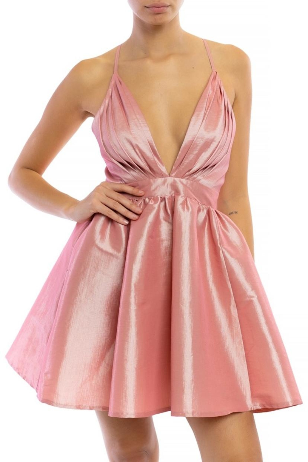 luxxel Satin Tutu Mini-Dress - Main Image