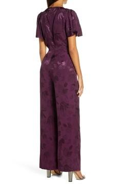 Forest Lily Satin Wide Leg Floral Jumpsuit - Alternate List Image