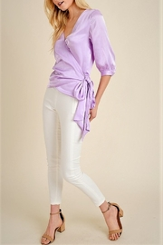 jane+1 Satin Wrap Blouse - Front full body