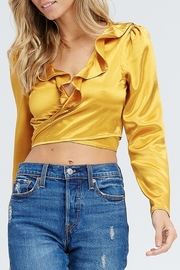 Emory Park Satin Wrap Crop Top - Product Mini Image