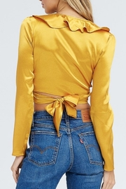 Emory Park Satin Wrap Crop Top - Front full body