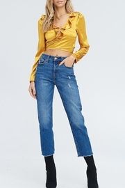 Emory Park Satin Wrap Crop Top - Side cropped