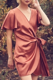 Dress Forum  Satin Wrap Dress - Product Mini Image