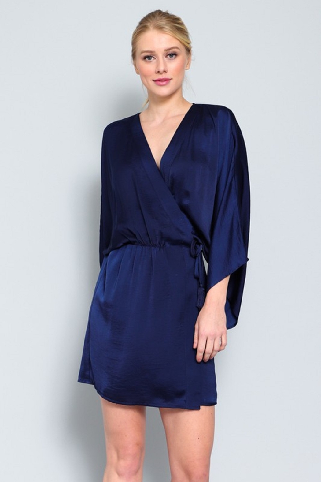 AAKAA Satin Wrap Dress - Main Image