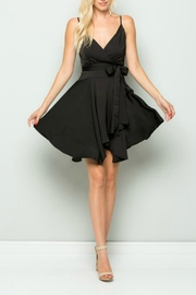 Pretty Little Things Satin Wrap Dress - Front cropped