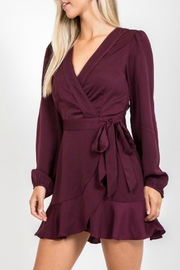 Very J  Satin Wrap Dress - Product Mini Image