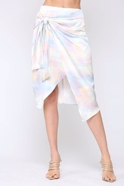 Fate  Satin Wrap Midi-Skirt - Front cropped