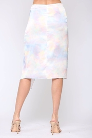 Fate  Satin Wrap Midi-Skirt - Side cropped