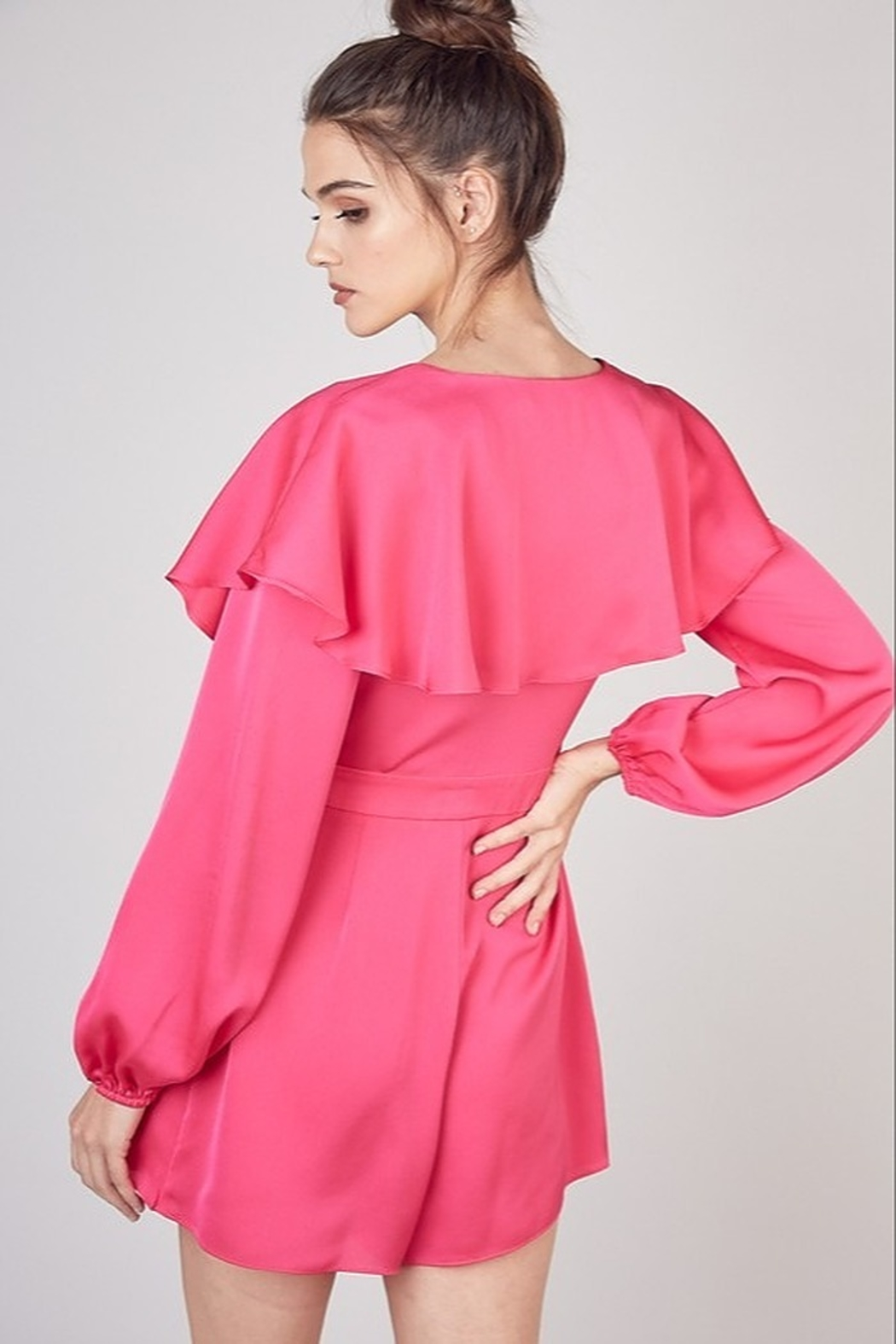Do & Be Satin Wrap Romper - Side Cropped Image