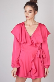 Do & Be Satin Wrap Romper - Front cropped