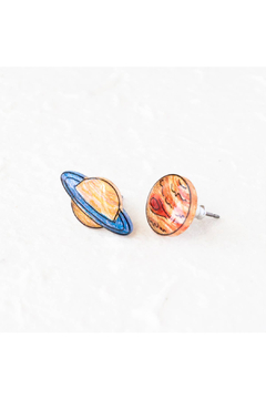 Poptone Co. Saturn & Jupiter Stud Earrings - Alternate List Image