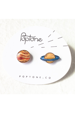 Poptone Co. Saturn & Jupiter Stud Earrings - Product List Image