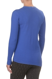 SATVA. V Neck Sweater - Front full body