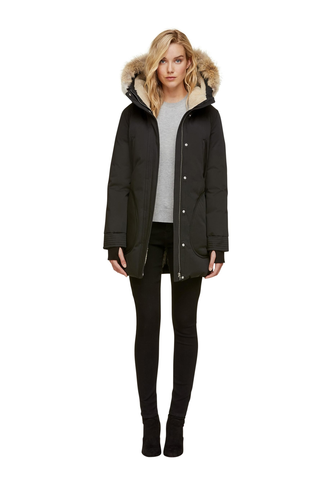 Soia & Kyo Saundra-C Down Coat - Side Cropped Image