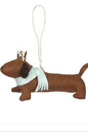 Meri Meri Sausage Dog Felt Tree Decoration - Product Mini Image
