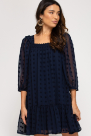 She & Sky  Savannah Puff Sleeve 3D Dress - Front cropped