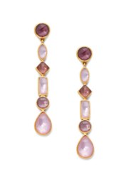 Julie Vos SAVANNAH STATEMENT EARRING-IRIDESCENT ROSE - Product Mini Image