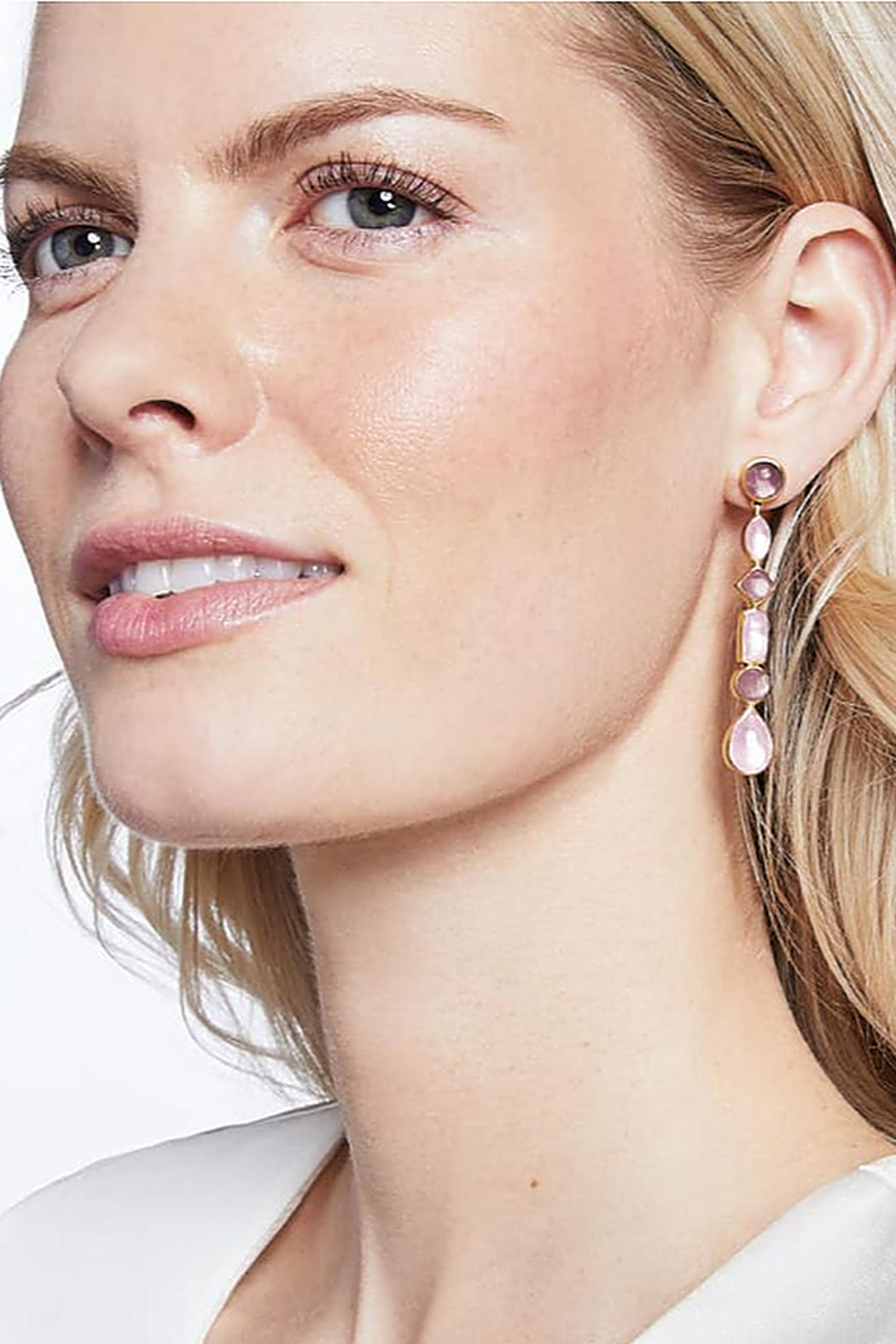 The Birds Nest SAVANNAH STATEMENT EARRING-IRIDESCENT ROSE - Front Full Image