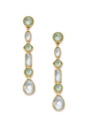 Julie Vos SAVANNAH STATEMENT EARRINGS-IRIDESCENT PERIDOT GREEN - Product Mini Image