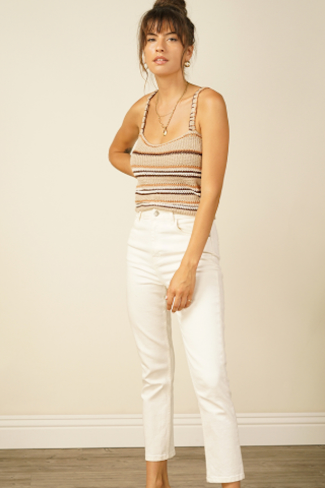 Line & Dot Savannah Sweater Tank Top - Front Cropped Image