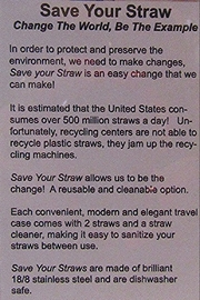 Save Your Straw SAVE YOUR STRAW - Side cropped