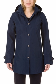 SAVE THE DUCK Buttondown Hooded Raincoat - Front cropped