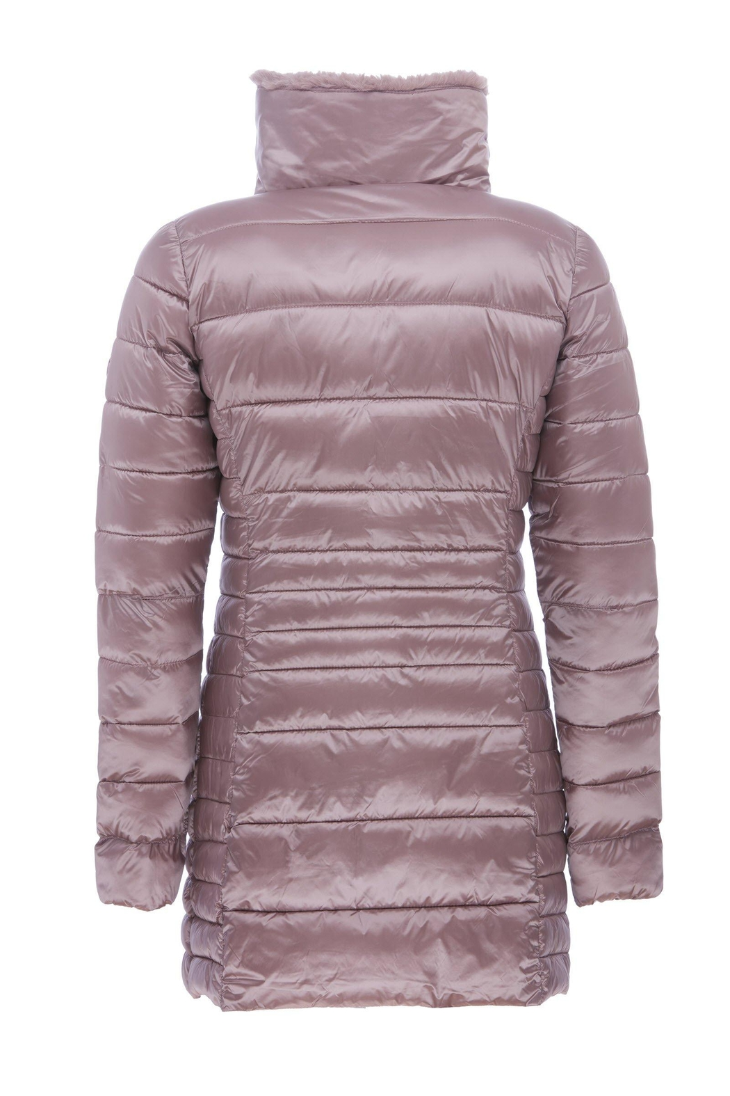 SAVE THE DUCK Fauxfur Collar Coat - Back Cropped Image