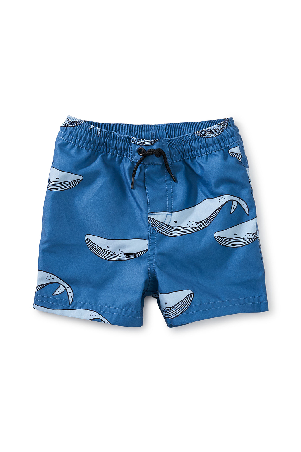 Tea Collection  Saved By The Beach Swim Trunks - Azure Whales - Main Image
