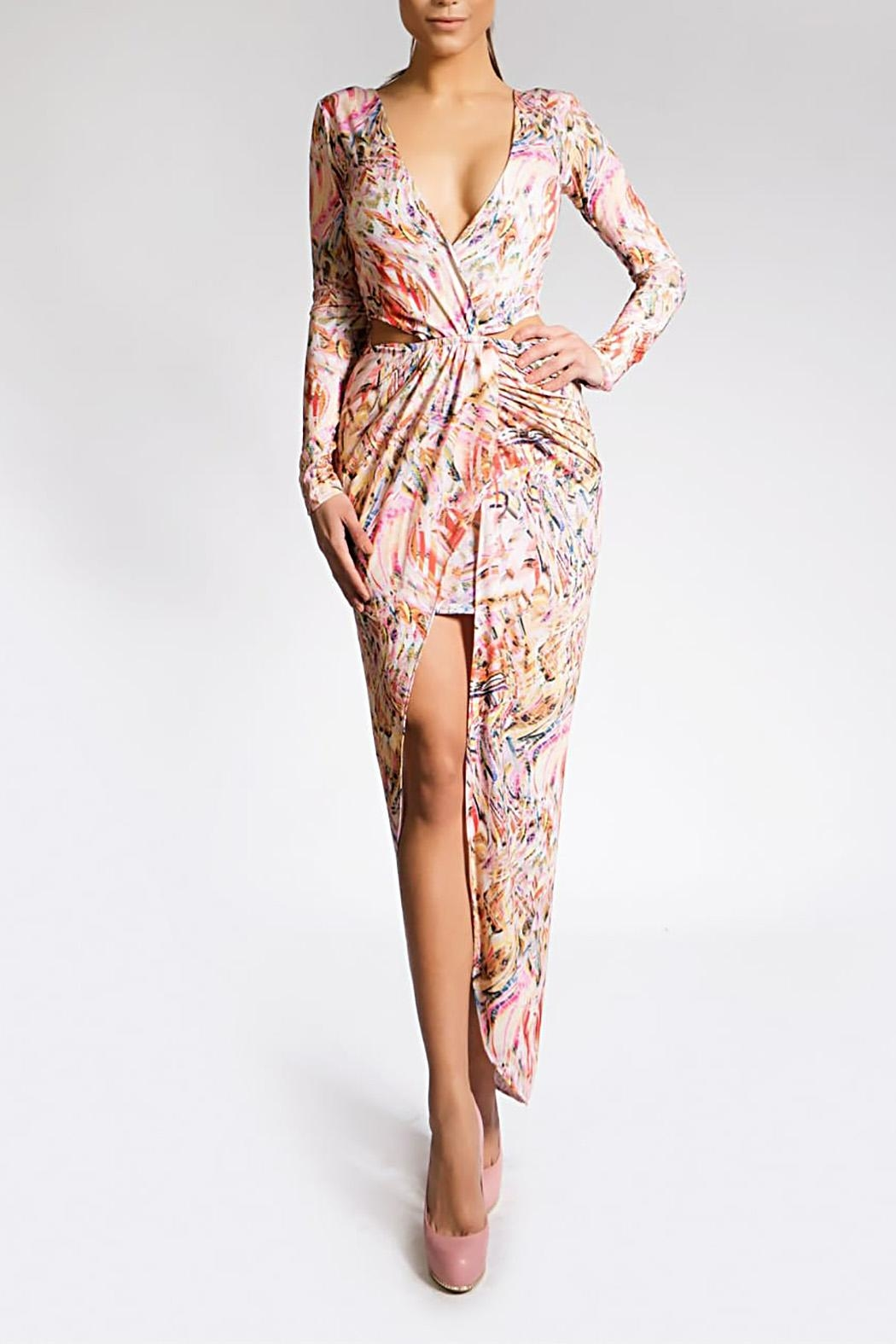 Savee Couture Double Wrapped Dress - Main Image