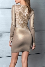 Savee Couture Metallic Knot Dress - Back cropped