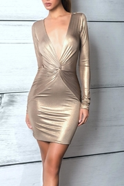 Savee Couture Metallic Knot Dress - Product Mini Image