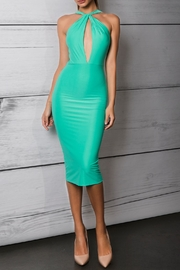Savee Couture Green Cross Front Dress - Product Mini Image