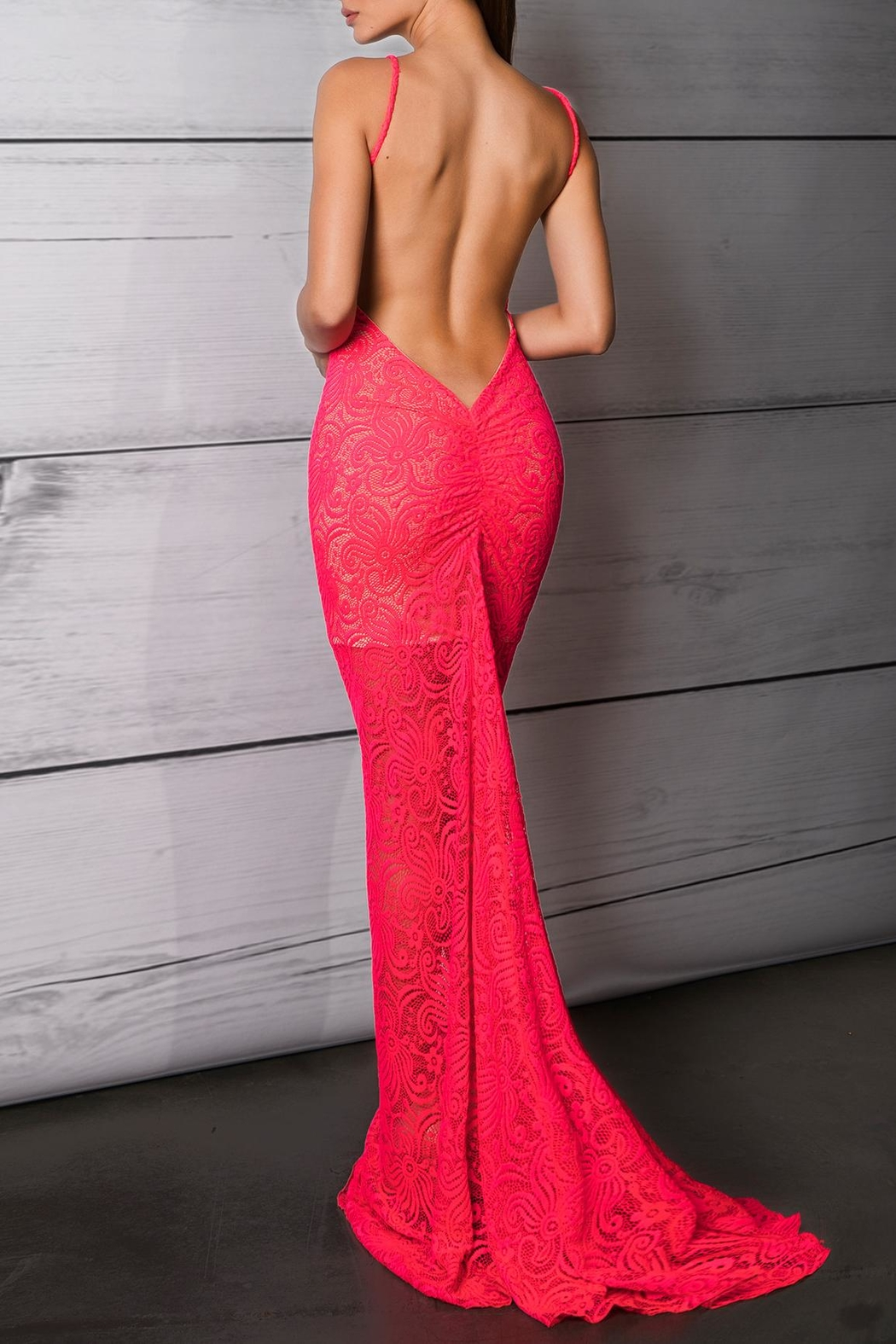Savee Couture Punch Deep Back Dress - Side Cropped Image