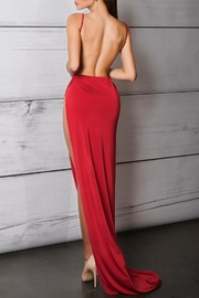 Savee Couture Savee High Slit Dress - Front full body