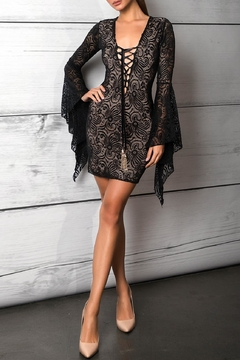Savee Couture Savee Lace Up Dress - Product List Image