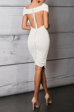 Savee Couture Boat Neck Bodycon Dress - Alternate List Image