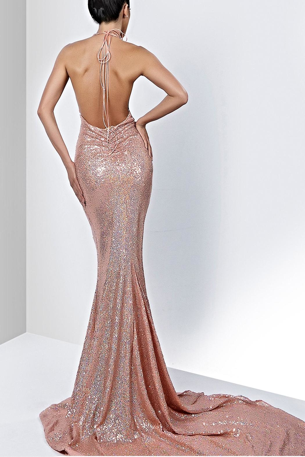 Savee Couture Savee Sequin Maxi Dress - Front Full Image