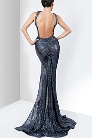 Savee Couture Savee Sequin Slit Dress - Front full body