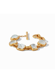 Julie Vos Savoy Demi Bracelet Gold Iridescent Clear Crystal - Front full body