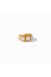 Julie Vos Savoy Ring Gold Iridescent Clear Crystal Size 6/7 - Product Mini Image