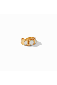 Julie Vos Savoy Ring Gold Iridescent Clear Crystal Size 6/7 - Alternate List Image