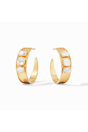 Julie Vos Savoy Statement Hoop Gold Iridescent Clear Crystal - Product Mini Image