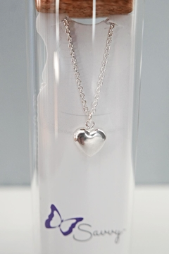 Savvy Designs Heart Charm Necklace(silver) - Alternate List Image